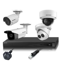 Hikvision 4MP Up to 4 Cameras, IP CCTV Kit Builder (4 Channel NVR)