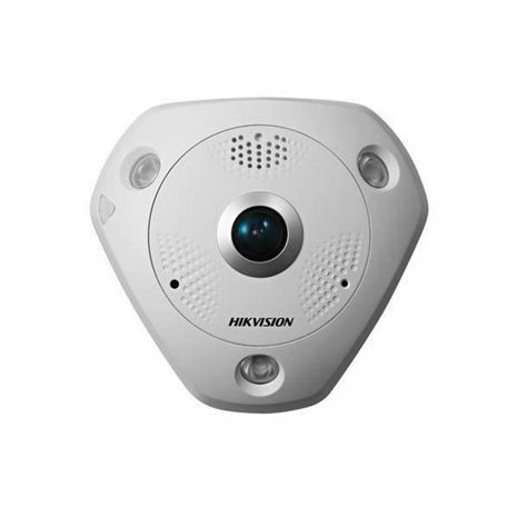 Hikvision DS-2CD63C2F-IVS 12MP fisheye IP camera with audio